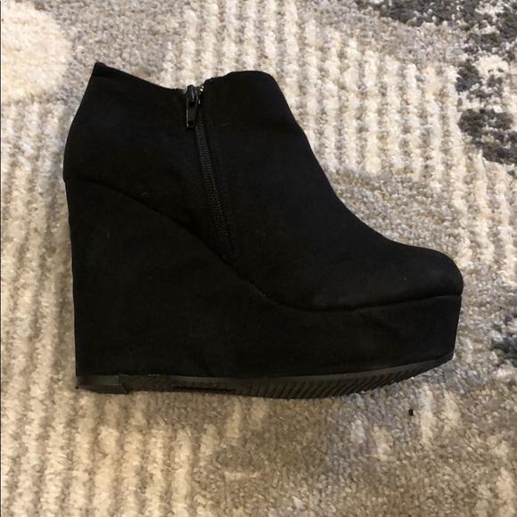 f5c3be3aa373d Aldo Shoes | Suede Wedge Booties | Poshmark